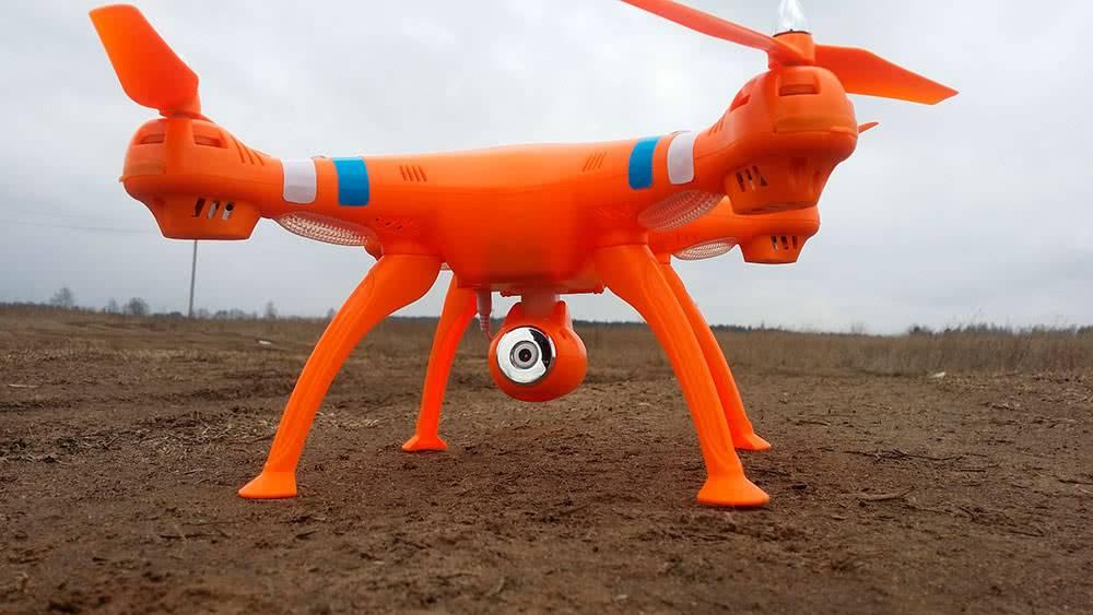 Квадрокоптер Syma X8C оранжевый