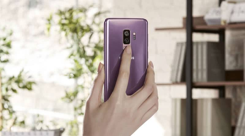 Сканер отпечатка пальцев у Galaxy S9