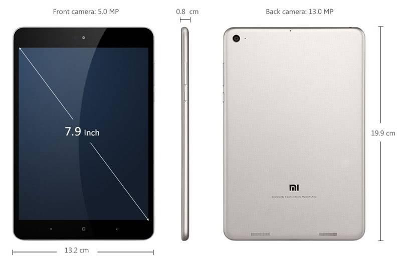 Размеры Xiaomi MiPad 3