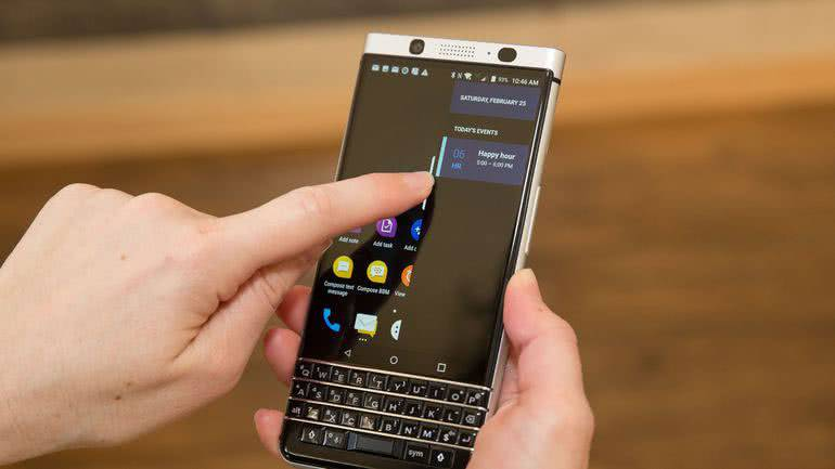 BlackBerry KEY2 управление жестами