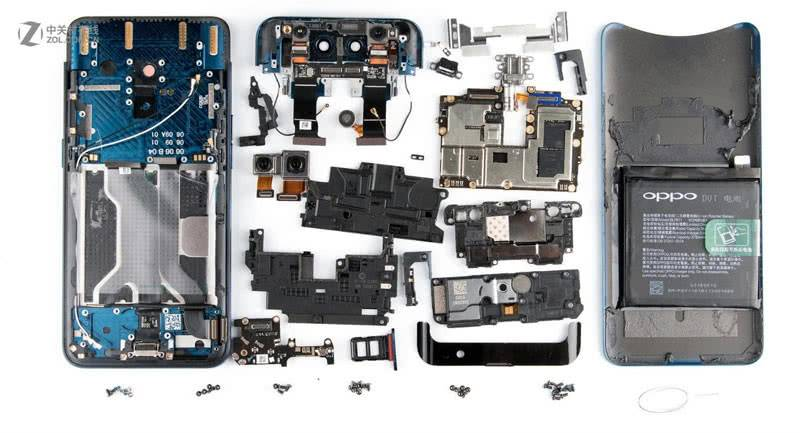 Аппаратные компоненты Oppo Find X