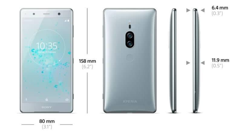 Sony Xperia XZ2 Premium габариты