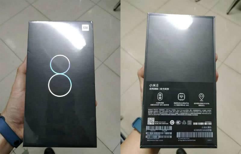 Xiaomi Mi 8 в коробке