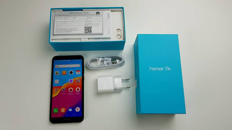 Комплектация Honor 7A
