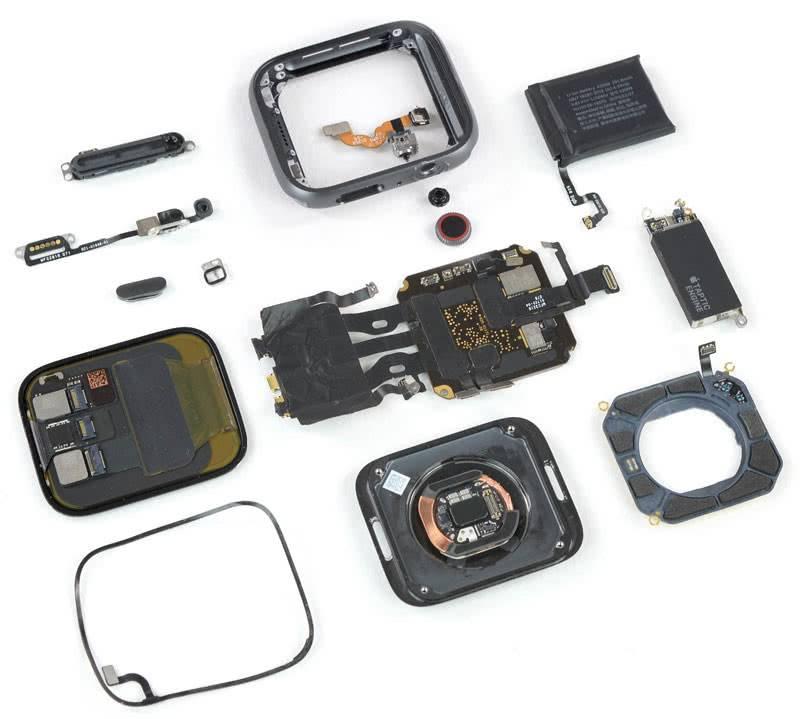 Внутренности Apple Watch 4