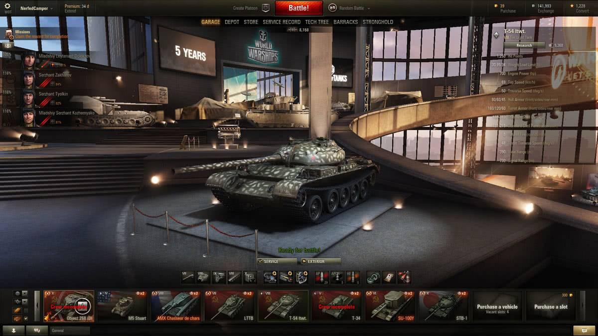 Т-54 облегченный в World of Tanks
