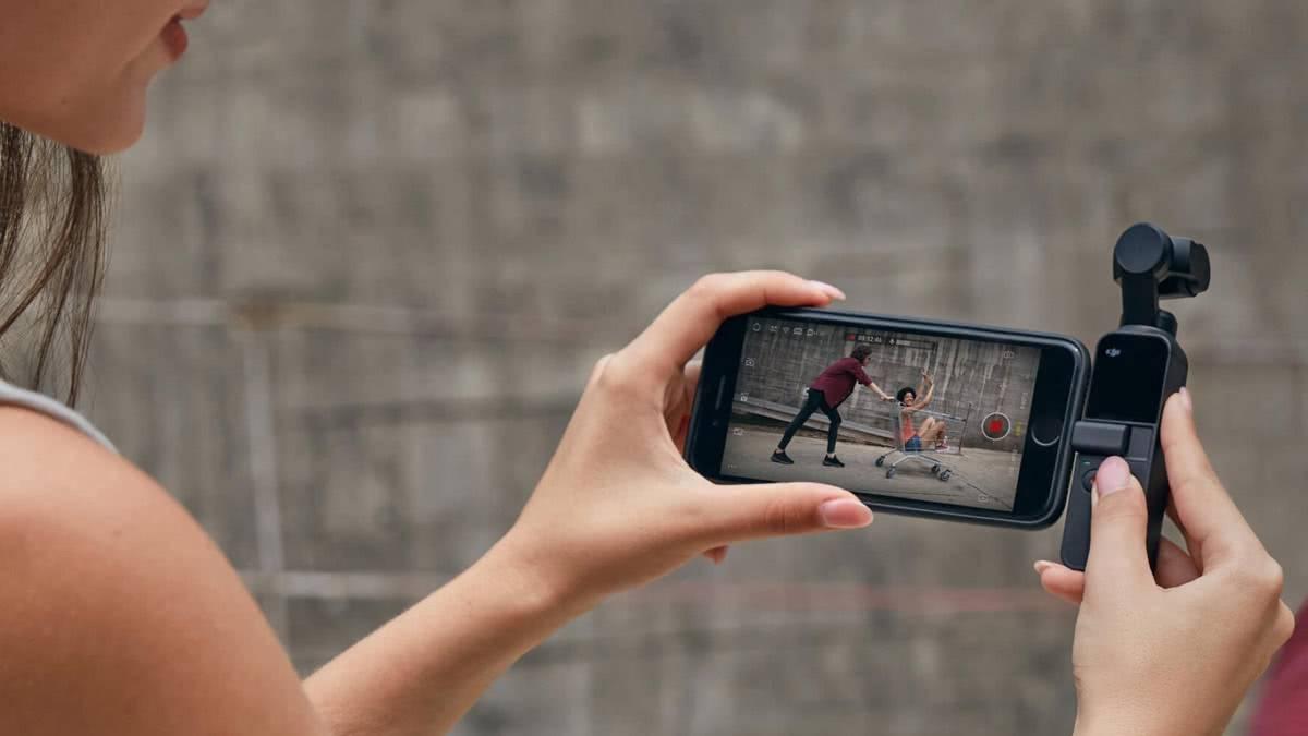 Подключение смартфона к OSMO POCKET