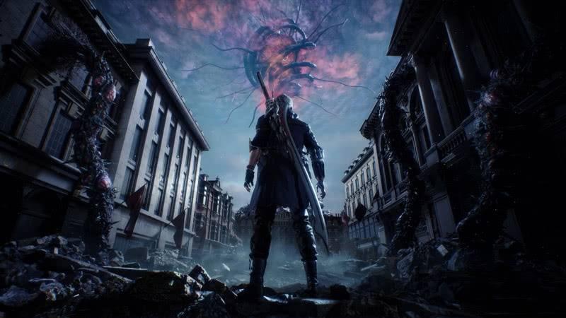 Локация в игре Devil May Cry 5 2019 года