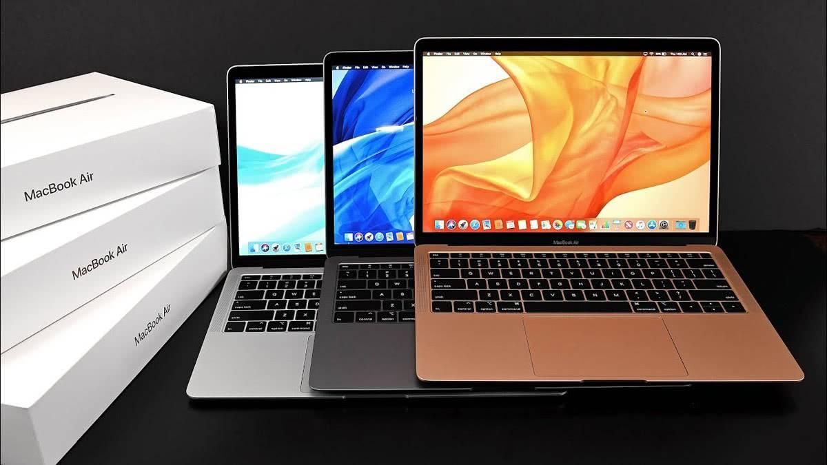 MacBook Air 2018 3 цвета