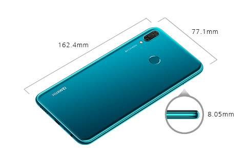Размер смартфона Huawei Y9 (2019)