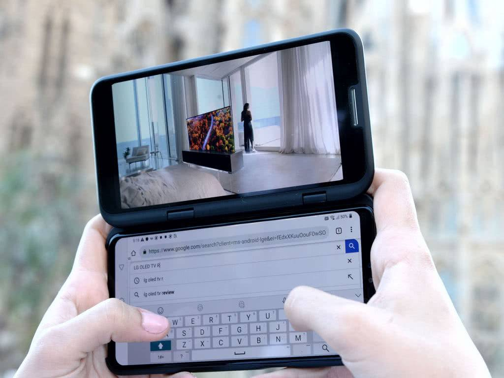 Lg V50 двойной экран