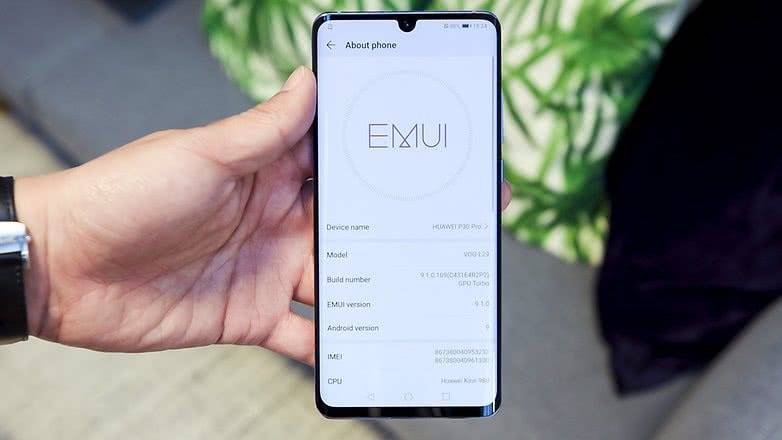 Программное обеспечение Huawei P30 Pro