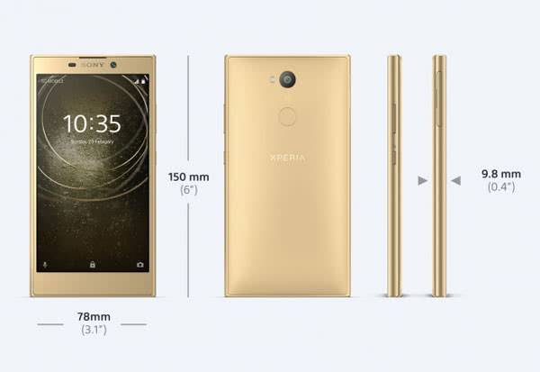 Sony Xperia L2 размер