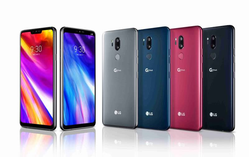 LG G7 ThinQ цвета