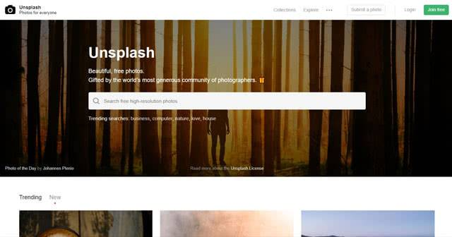 Unsplash - сайт с обоями