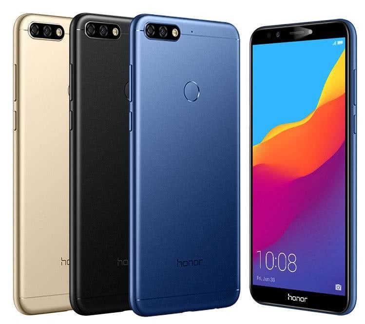 Дизайн смартфонов Honor 7C