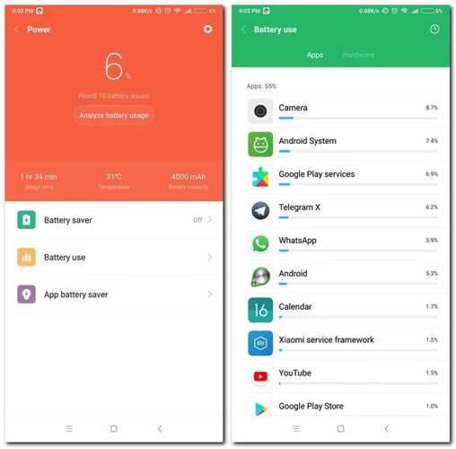 Автономность Xiaomi Redmi Note 5