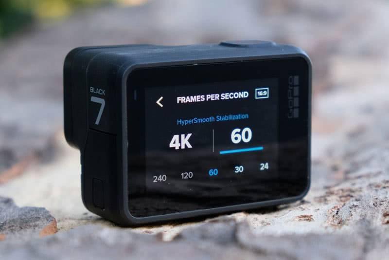 Разрешение съёмки на GoPro 7