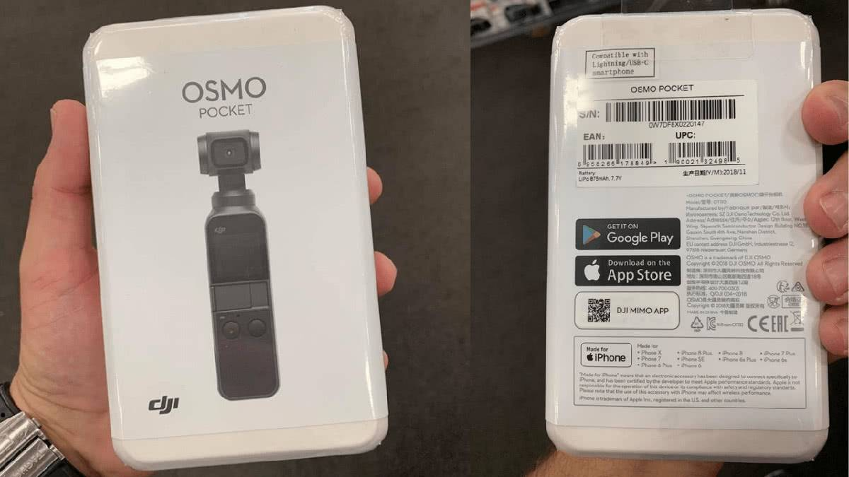 Распаковка DJI OSMO POCKET