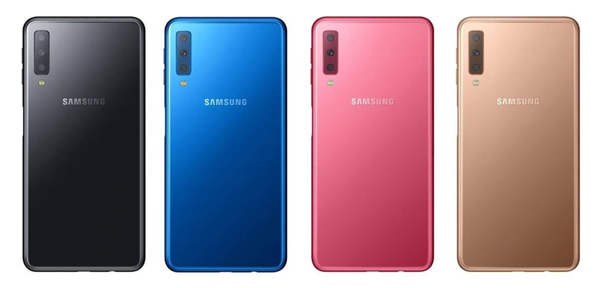 Цвета Samsung Galaxy A7 2018