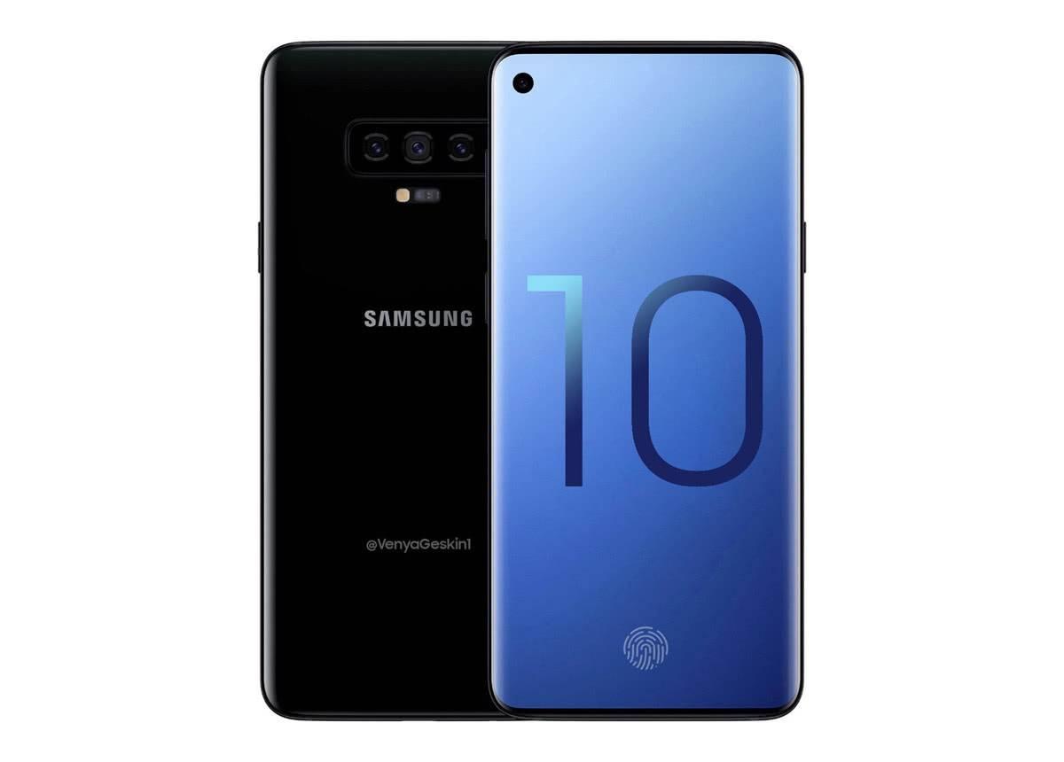 Samsung Galaxy S10 на фото