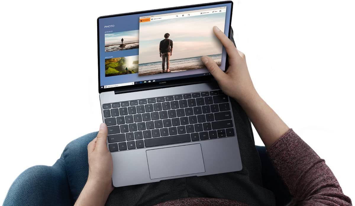 Экран и клавиатура Huawei MateBook 13