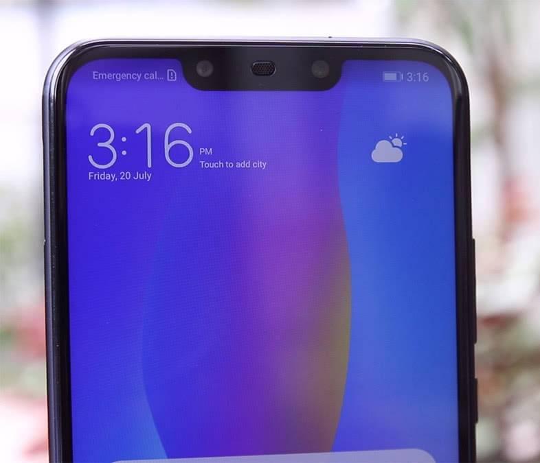 Вырез экрана Huawei-Nova-3i