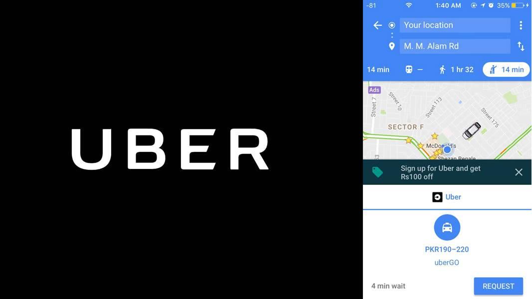 Uber + Google Maps